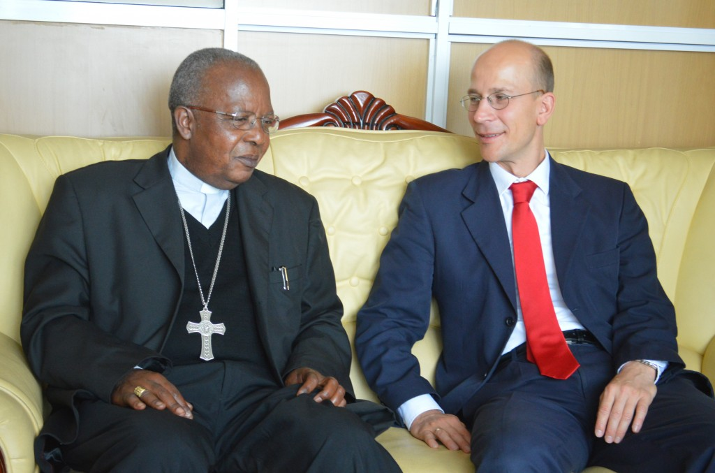 His Eminence John Cardinal Niue with the new German ambassador to Kenya, Andreas Peschke